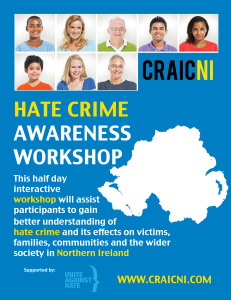 CraicNI -Hate Crime Awareness Workshop Information Pack